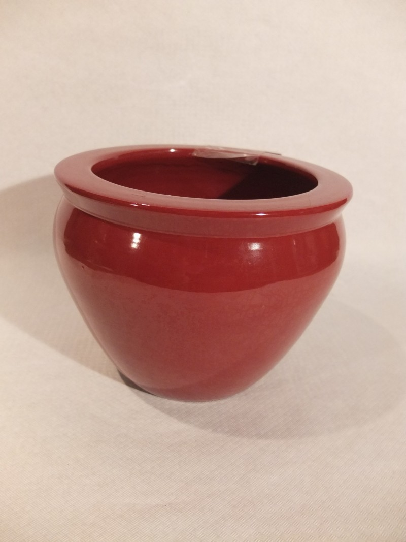 Blumentopf, rot, 12cm