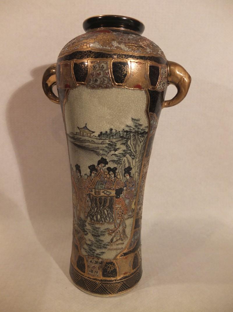 Goldverzierte Vase, 37 cm