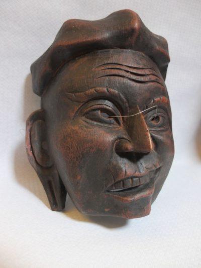 Maske China Ulmenholz