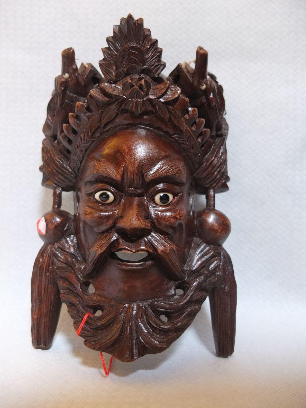 Maske China Rosenholz