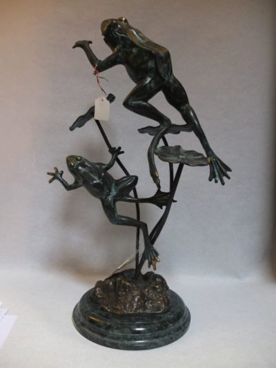 Bronze Skulptur Frösche