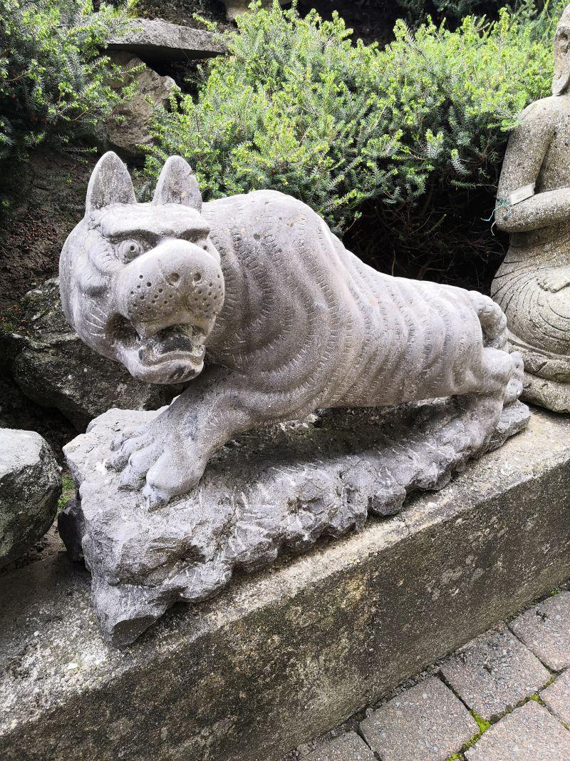 Panther Paar aus Stein Material: Stein Maße: 70 x 25 cm Gewicht: 60 kg