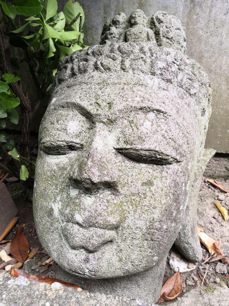 Buddha Kopf, thailändisch Material: Stein