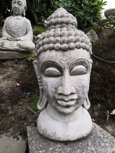 Buddha Kopf aus Beton, 65 cm