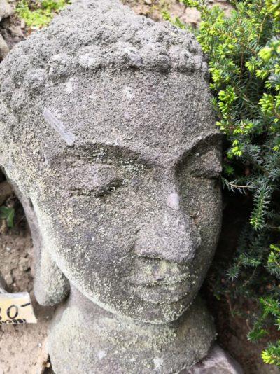 Buddha Kopf aus Stein, 40 cm Material: Stein Maße: 40 x 22 cm Gewicht: 30 kg