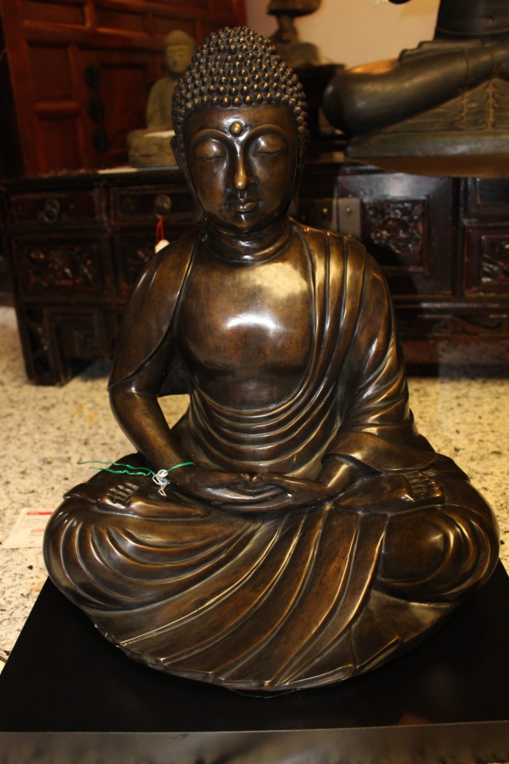 buddha amida aus bronze ebay. Black Bedroom Furniture Sets. Home Design Ideas