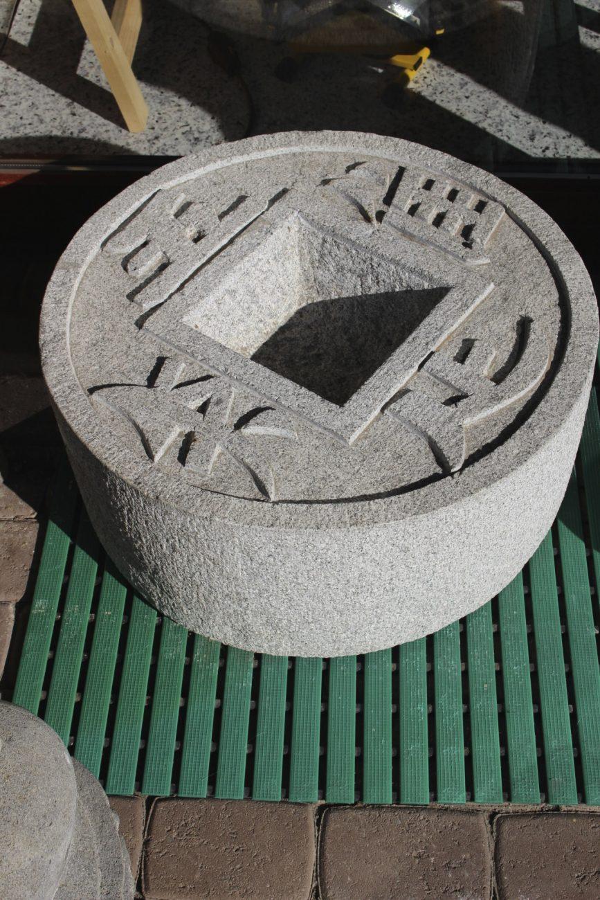Chinesische Vogeltränke aus Naturstein   zu kaufen auf asian-garden.de