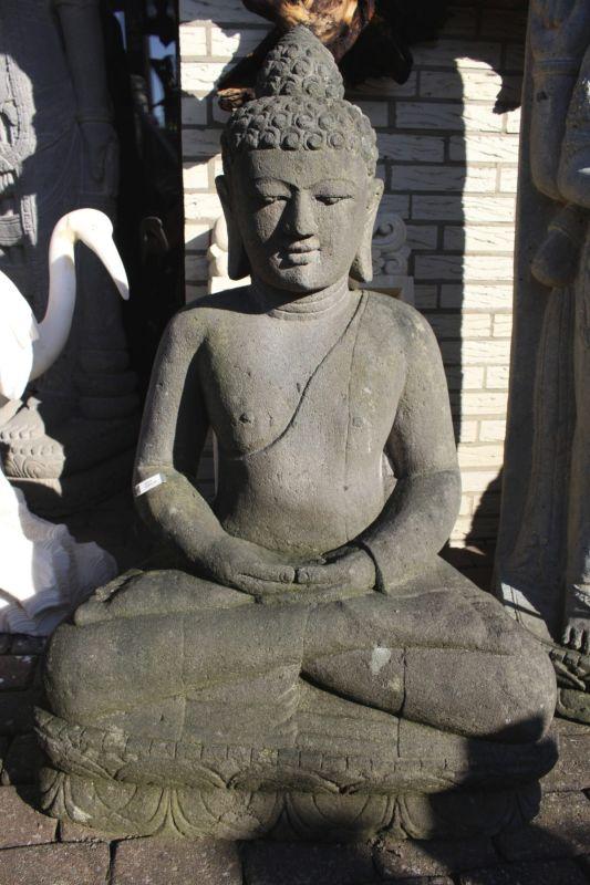 Stein Buddha Amithaba. Detailansicht - Onlineshop asian-garden.de