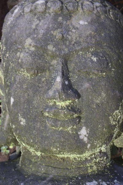 Buddha Kopf Büste Flusstein Java