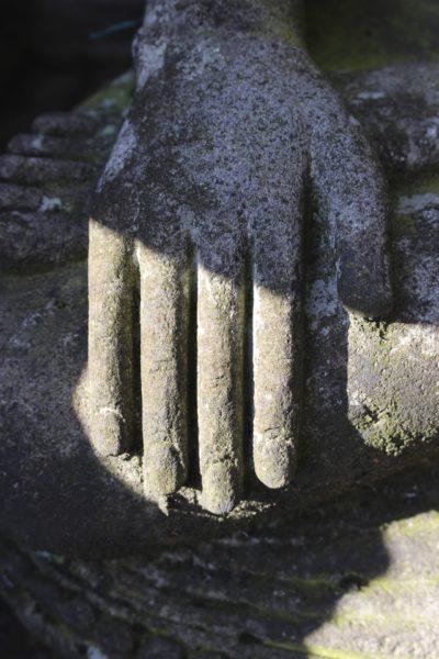 Stein Buddha aus Java Flussstein