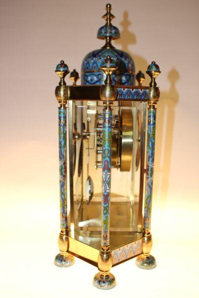 Cloisonné Uhr, 46 x 35 x 18cm
