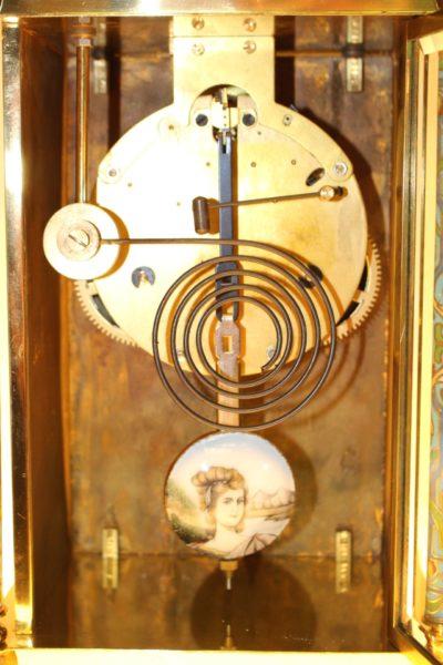 Cloisonné Uhr, 53 x 22 x 9cm