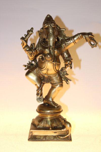 Bronzener Buddha / Ganesha, 30 x 20 x 11cm