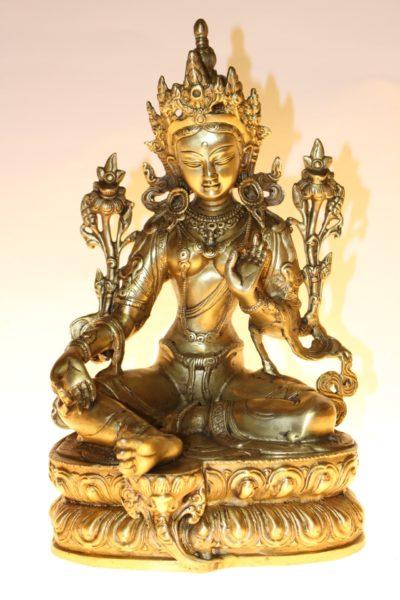 Bronze Buddha / Grüne Tara, 32 x 21 x 19cm