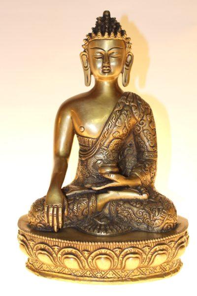 Bronze Medizin Buddha, 30 x 21 x 15cm
