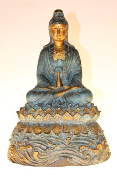 Bronze Buddha Guanyin, 28 x 20 x 15cm