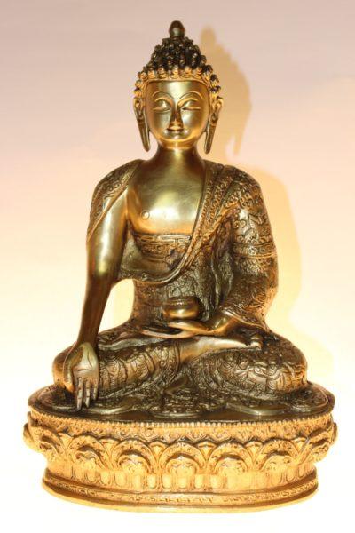 Bronze Medizin Buddha, 32 x 22 x 15cm