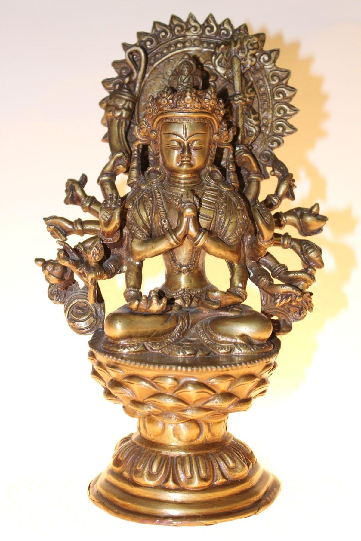 Bronze Buddha, 27,5 x 16 x 13,5cm
