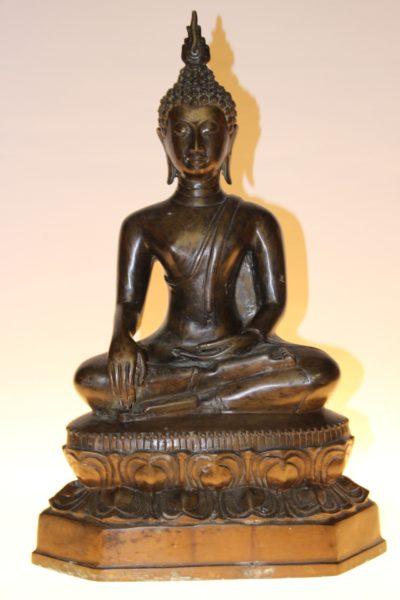 Bronze Buddha Statue, 45 x 13 x 17cm