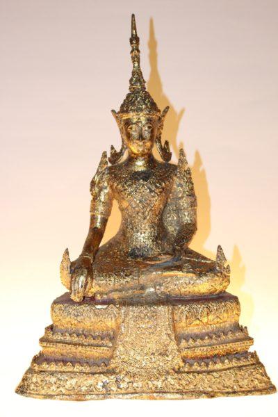 Bronze Buddha Figur, 46 x 31 x 17 cm