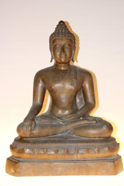 Bronze Buddha Figur, 49 x 38 x 24 cm