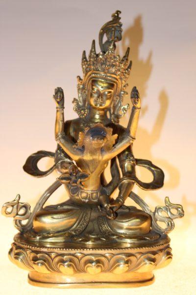 Bronze Buddha Figur, 29 x 20 x 15 cm