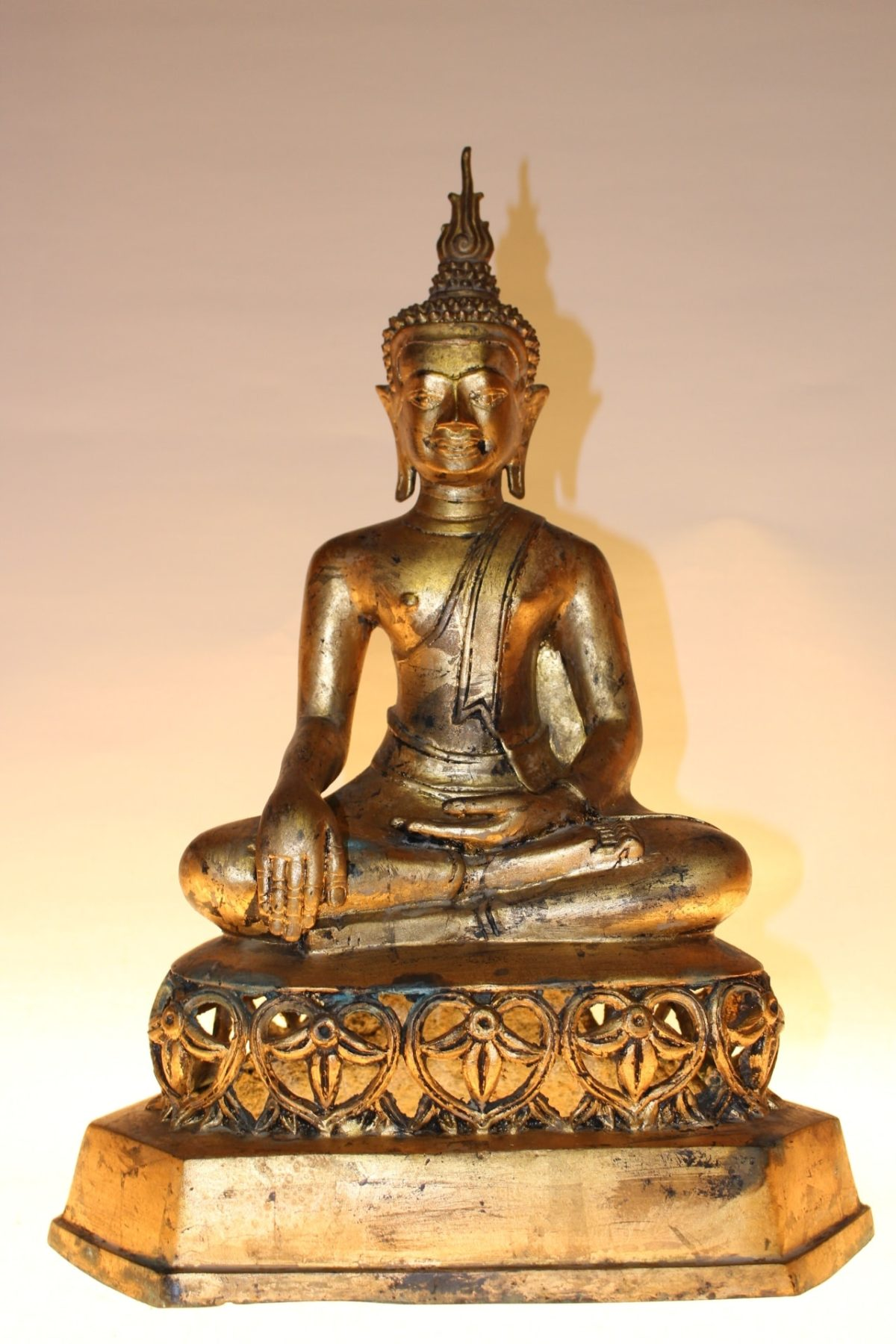 Bronze Buddha Figur, 44 x 32 x 20 cm