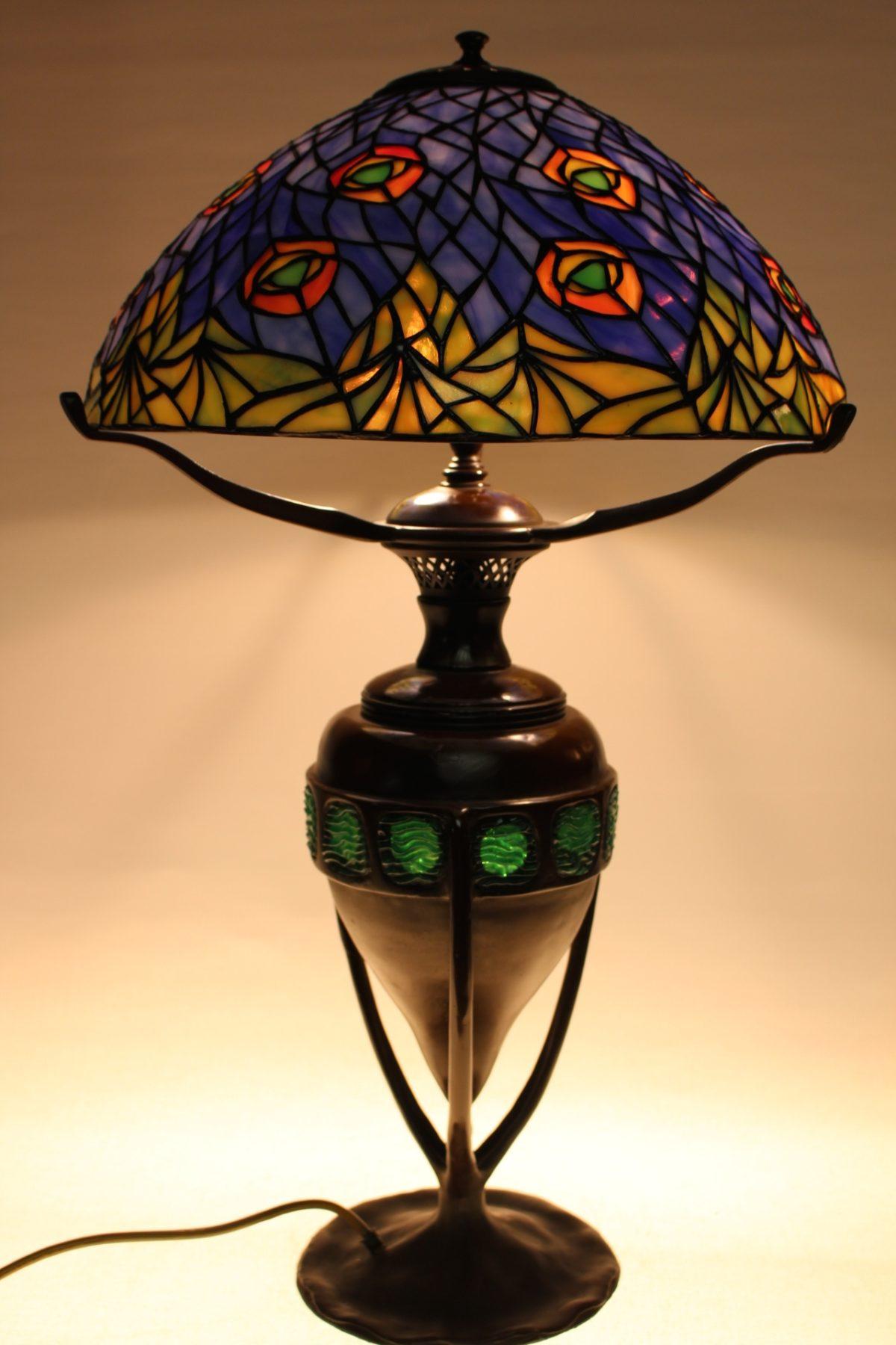 Tiffany Lampe, 70 x 41 x 20 cm