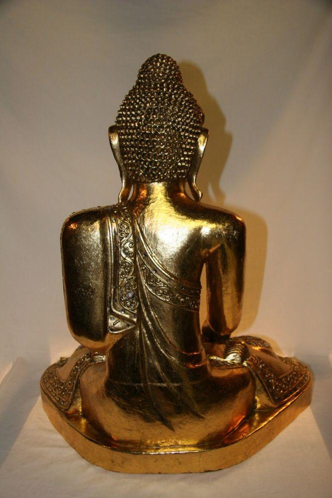 buddha figur aus holz zu kaufen auf asian. Black Bedroom Furniture Sets. Home Design Ideas