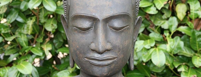 Asian Garden Ausstellung, Holz Buddha Statuen kaufen im Shop